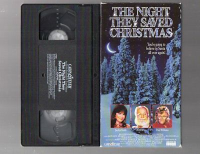 The Night They Saved Christmas Vhs Home Video Jaclyn Smith Art Carney Holiday