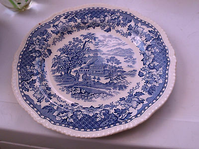 Blue And White Small Dinner Plate By Woods In Seaforth Pattern