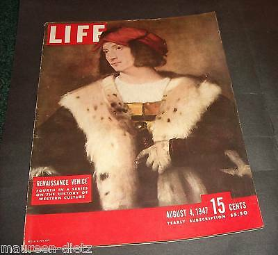 August 4, 1947 LIFE Magazine Old 40s car ads ad advertising FREE SHIPPING Aug. 8
