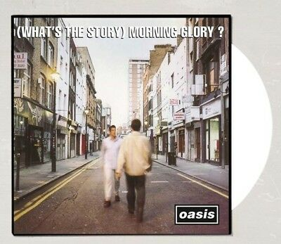 """OASIS 2X 12"""" White Color vinyl LP WHATS THE STORY MORNING GLORY record album"""