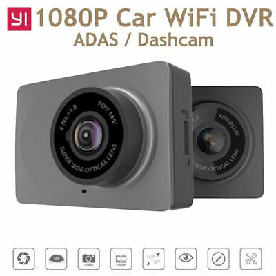 YI Compact Dash Cam 1080p Full HD Car Camera 2.7 LCD Screen 64GB - FOV165