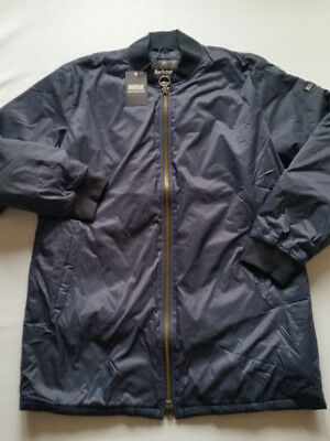 Barbour International Long Quilted Jacket Men's Nomex Quilt Size XXL New