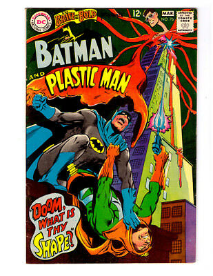 BRAVE AND THE BOLD #76 in VF+ 1968 DC Silver Age comic with PLASTIC MAN & BATMAN