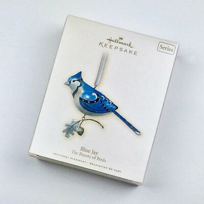 Hallmark 2007 Blue Jay Christmas Ornament 3rd in Beauty of Birds Series