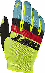 Shift White/Whit3 Label Air 2017 MX/Offroad Gloves Flo Yellow/Blue/Black