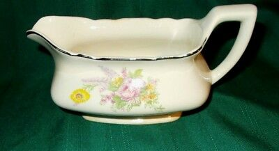 W.S. George China Lido, White  Floral Bouquet, Gravy Boat No. 297A