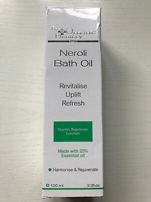 BNIB The Organic Pharmacy Neroli Bath Oil 100mls 20% Essential Oils