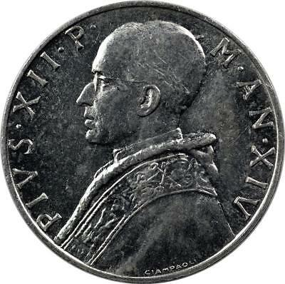 Vatican City - 10 Lire - 1952 - Prudence Standing - Pope Pius Xii - Aunc