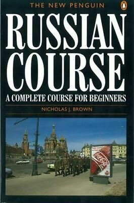 NEW The New Penguin Russian Course By Nicholas Brown Paperback Free Shipping