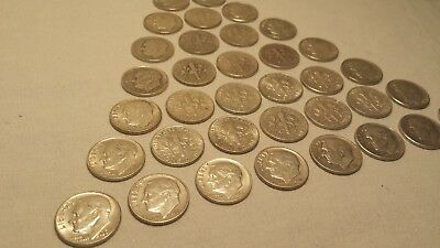 "LOT of 15 Roosevelt Dimes 90% Silver ""NOT JUNK"" 1946-1964 random dates US Coins"