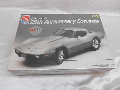 AMT ERTL 1978 CHEVROLET 25th Anniversary CORVETTE MODEL KIT FACTORY SEALED