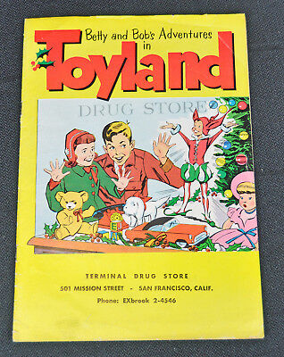 SCARCE 1956 TOYLAND CHRISTMAS Toy catalog brochure COMIC gun holster