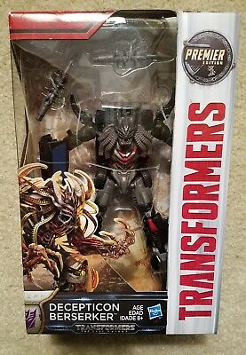 Transformers The Last Knight DECEPTICON BERSERKER Figure Deluxe Class Premier