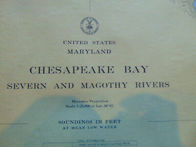 Waterways Chesapeake Bay Severn & Magothy Rivers nautical chart US Coast Guard