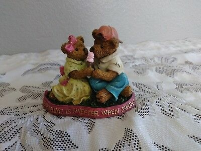 Boyd's Bears The Bearstone Collection The Great Sweetener Of Life Is Friendship