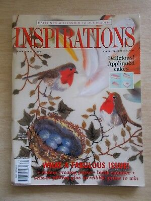 Inspirations #25~Embroidery Projects~Cakes~Birds~Temari Egg~Birth Sampler~Ribbon