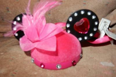 Disney Parks Christmas Ornament Minnie Mouse Ear Hat Pretty In Pink LE