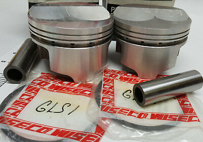 NOS pair of Wiseco forged S/B Chevy pistons with pins and ring land supports