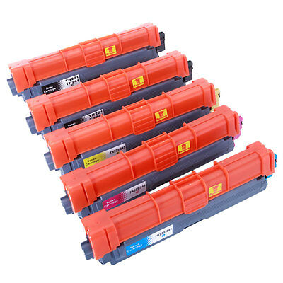 5pk TN221 TN225 Cartridge Color Toner For Brother MFC-9130CW/9330CDW HL-3140CW