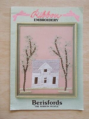 Ribbon Embroidery~Berisfords~16 Patterns~19pp P/B~1986
