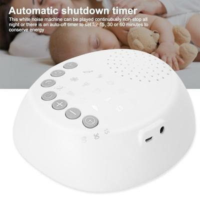 White Noise Machine Timing Shutdown Sleep Sound Relax for Baby Adult Use New