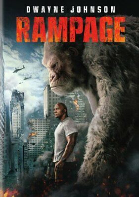 Rampage (DVD,2018) Action, Adventure, Sci-Fi  Free Shipping!!!!