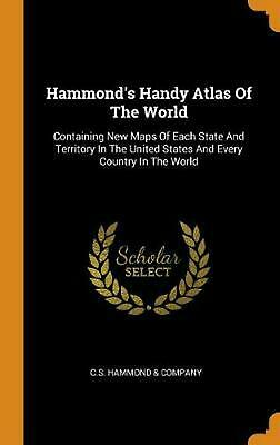 Hammond's Handy Atlas of the World (English) Hardcover Book Free Shipping!
