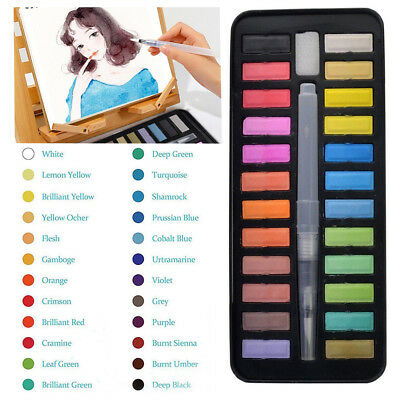 12 18 24 Watercolour Art Artist KitPaint Set With Brush Painting Water AU