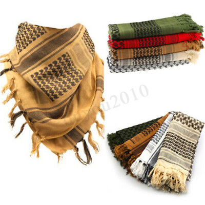 100% Cotton Shemagh Headscarf Military Desert Wrap Desert Keffiyeh Arab Army