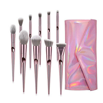 Wet and wild Brushes Set Tapered Handle Pencil Blending Powder Blush Contour