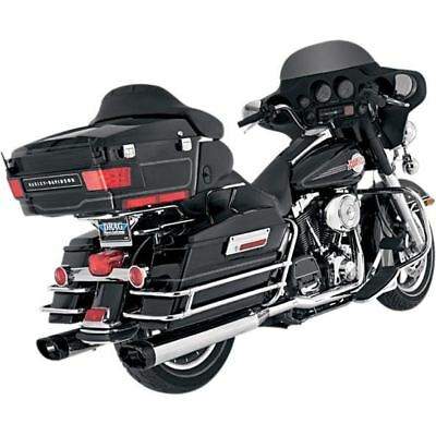 Vance & Hines Muffler Monster Ovals Chrome W/ Black Tips - 16753