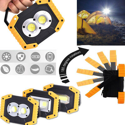 30W Portable COB LED Work Light USB Rechargeable Outdoor Camping Lamp Lantern