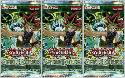 YuGiOh! Spell Ruler New and Sealed YuGiOh Booster Packs x3