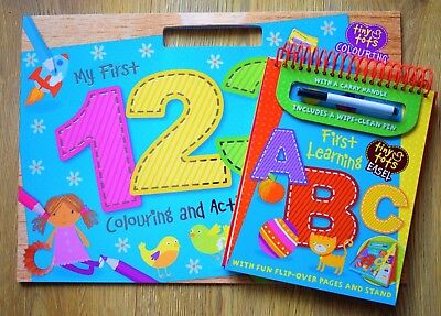 Nursery Reception Educational Books Learn Letters & Numbers Alphabet - New - 3 4