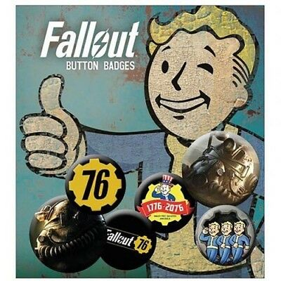 Fallout Six Button Badges Set with Free UK P&P