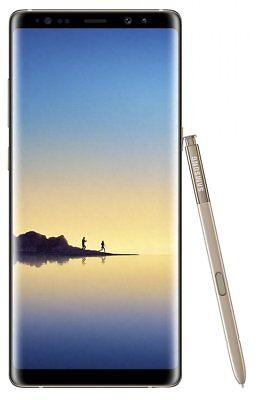 Samsung Galaxy Note 8 SM-N950F 64GB 12MP Android Mobile Smartphone Gold Unlocked