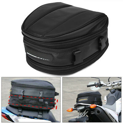 Motorcycle Rear Tail Seat Back Saddle Helmet Pack Waterproof Shoulder Carry Bag