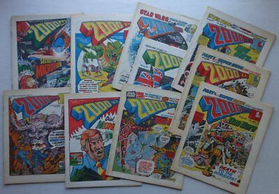 2000AD comic #40-49 (1977-1978) inclusive FR to FN- (phil-comics)