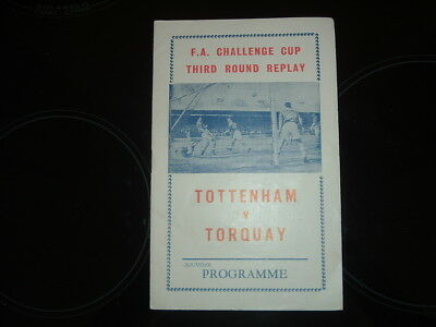 Tottenham V Torquay United - Fa Cup 3Rd Round Replay 1964/65 - Pirate Programme