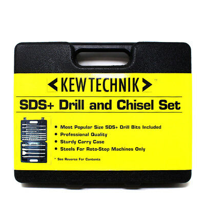 Kewtechnik Sds Plus Drill Bit And Chisel Set 14 Piece Kit Masonry Brick Concrete