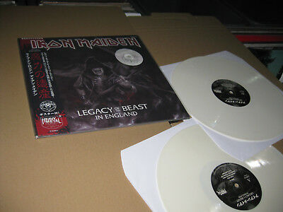 Iron Maiden 2 Lp Legacy Of The Beast In England + Poster White Vinyl