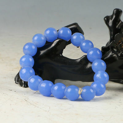Beautiful Chinese Hand-Carved Natural Jade Bead Bracelet