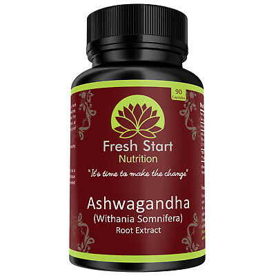 ASHWAGANDHA Root Extract | 1300mg 90 Vegan Capsules | Made in the UK