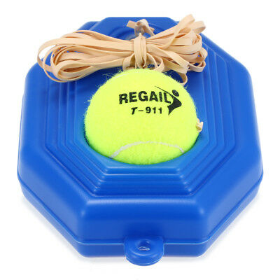 Tennis Training Practice Tool Exercise Self-Study Rebound Ball Baseboard X7G1