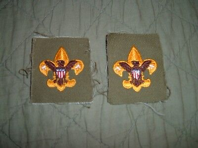 BSA 2 Boy Scout Vintage Tenderfoot Rank Patches