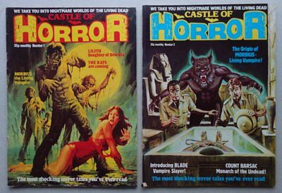 Castle of Horror Monthly comic #1 and #2 (1978) VG/F VG (phil-comics)