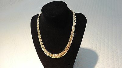 14K Yellow Gold Graduated Byzantine Necklace 27.7 grams - Italian - REDUCED!