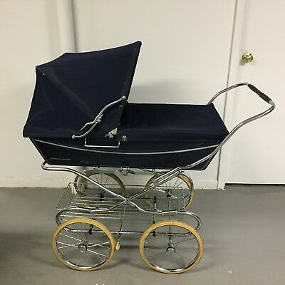 Vintage 1970's Silver Cross Baby Pram Buggy Stroller, Excellent used Condition,