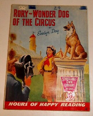 #292 Schoolgirl's Own Library Comics ~ RORY - WONDER DOG OF THE CIRCUS ~ 1958