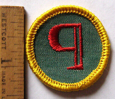 Rare 1963-70 Girl Scout Cadette REPORTER BADGE Proofreader Paragraph Mark Patch